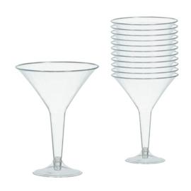 Plastic Martini Glazen Transparant