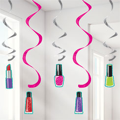 Sparkle Spa Party Hanging Swirls