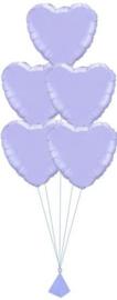 5 Ballonnenboeket van folie ballonnen
