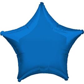 Folieballon ster blauw