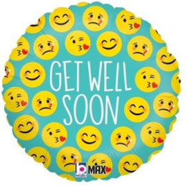 Get Well Emojio Faces Foil