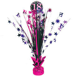 Tafel Centerpiece 18 Pink Sparkling Celebration