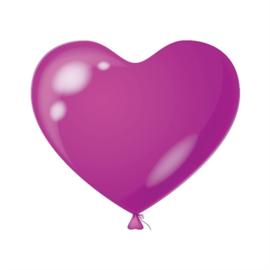 Harten ballon violet
