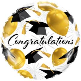 Congratulations Caps Folie Ballon