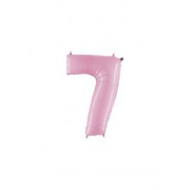 Folieballon cijfer 7 rose