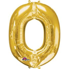 Folieballon letter O goud
