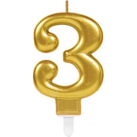 Cijferkaars Goud nr. 3