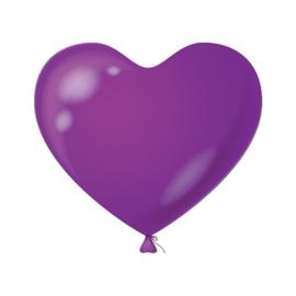 Harten ballonnen paars