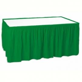 Plastic tafelrok groen