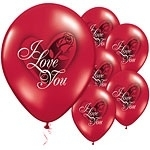 Ballon I Love You Red Rose