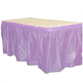 Plastic tafelrok lavendel