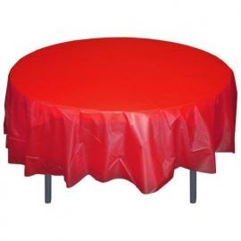 Ronde plastic tafelkleed  rood