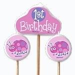 Lady bug 1st Birthday Kaarsen