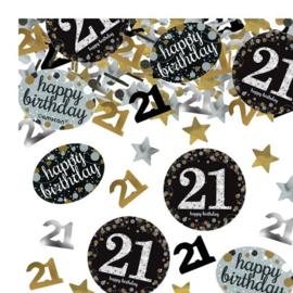 Confetti 21th Gold Sparkling Celebration