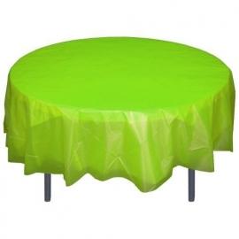 Ronde plastic tafelkleed  lime