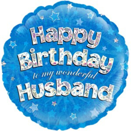 Happy Birthday Husband Foil
