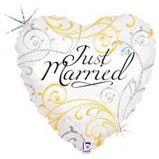Just Married Hearts Foil
