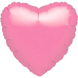 Folieballon hart rose