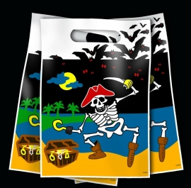 Black Pirates party bag
