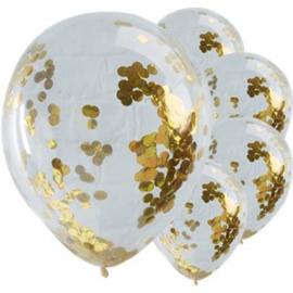 Confetti Ballonnen Sparkle Gold