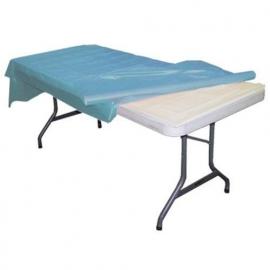 Plastic tafelkleed op rol licht blauw