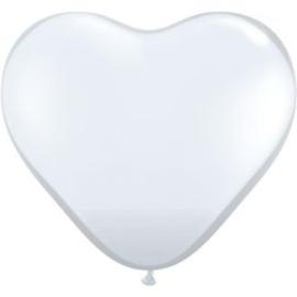3ft (90cm) Harten ballon transparant