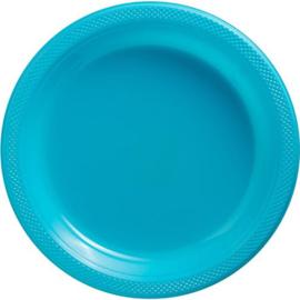Plastic Dessert en Lunchbord  Turqoiuse