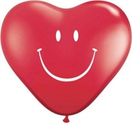 Ballon Smile face heart