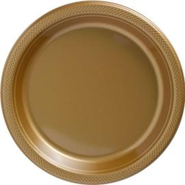 Plastic Dessert en Lunchbord Goud