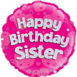 Happy Birthday Sister  Foil