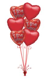 6 Ballonnenboeket van folie ballonnen