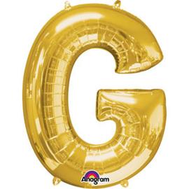 Folieballon letter G goud