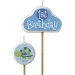 Turtle 1st Birthday Kaarsen