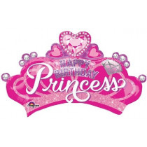 Princess Crown Supershape Folie Ballon