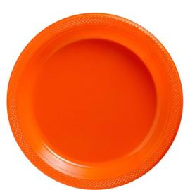 Plastic Dessert en Lunchbord Oranje