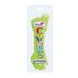Plastic vork lime groen