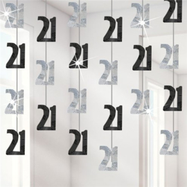 21th Birthday Black Hanging String Decoration