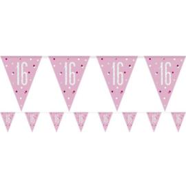 Pink Birthday Glitz  Vlaggenlijn