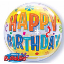 Happy B-Day Bubble Ballon