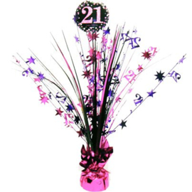 Tafel Centerpiece 18th Pink Sparkling Celebration