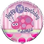 Ladybug 1st Birthday Folie ballon