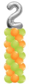 Ballonnenpilaar met folie cijfer