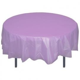 Ronde plastic tafelkleed  lavendel