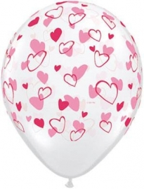 Ballon Red & Pink hearts