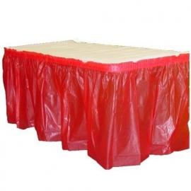 Plastic tafelrok rood