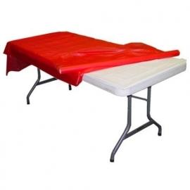 Plastic tafelkleed op rol rood