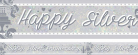 Banner Happy Silver Wedding