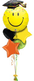 Smiley Graduation Ballonboeket