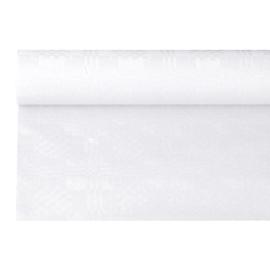 Tafelkleed Damast Papier wit