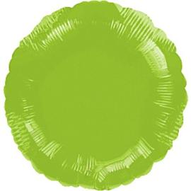 Folieballon rond lime groen